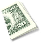 fake novelty $20 bill dropcard